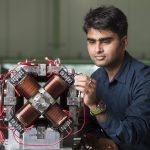 MEBT quadrupole doublet magnet