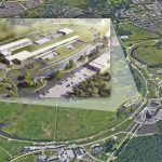 2019 artist rendering of the Fermilab's campus and the PIP-II accelerators