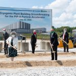Fermilab and partners broke ground on the new PIP-II cryoplant building