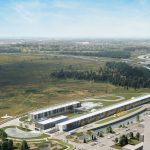 2021 rendering of the complex of buildings that will host the PIP-II particle accelerator